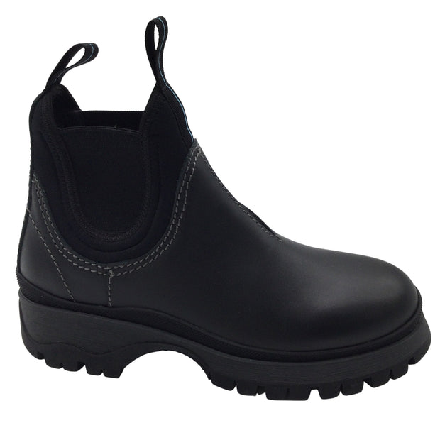 Prada Black Leather Chelsea Boots/Booties