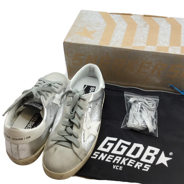 Golden Goose Deluxe Brand Silver Superstar Sneakers