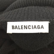 Balenciaga Black and Red Embroidered Turtleneck