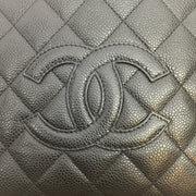 Chanel Black Quilted Caviar PTT