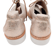 Arche Rose Gold Leather Sneakers
