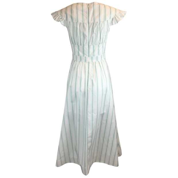 Calvin Klein 205W39NYC Striped Silk & Cotton Sundress