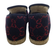 "Gucci Navy Horsebit ""Fria"" Logo Wool Loafers"