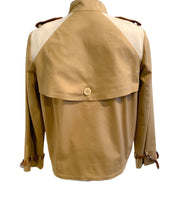 Tod's Beige / Brown Leather Trench Jacket