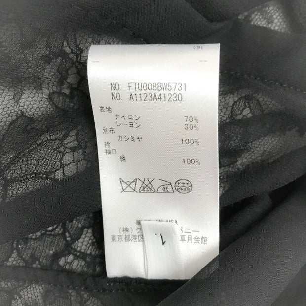 Thom Browne Black Lace Blouse