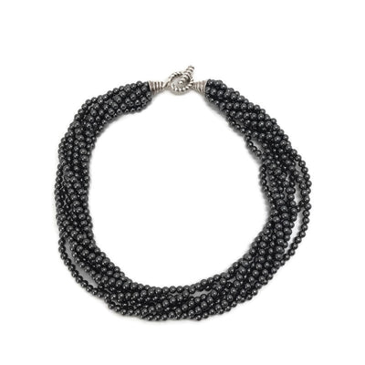 Tiffany & Co. Hematite Sterling Torsade Necklace