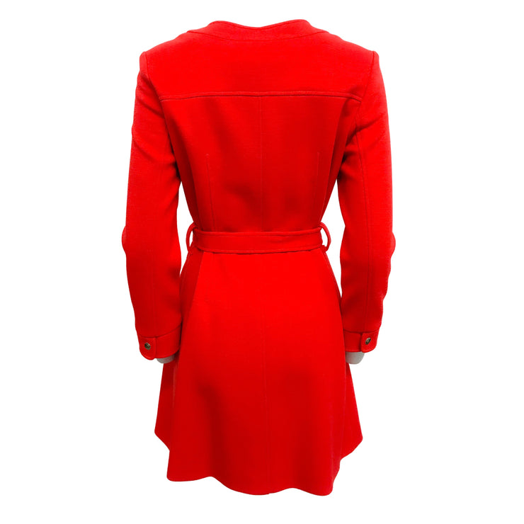 Lisa Perry Red Wool Coat