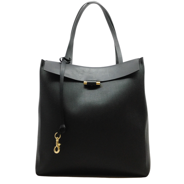 Stuart Weitzman The Sybil Black Leather Tote