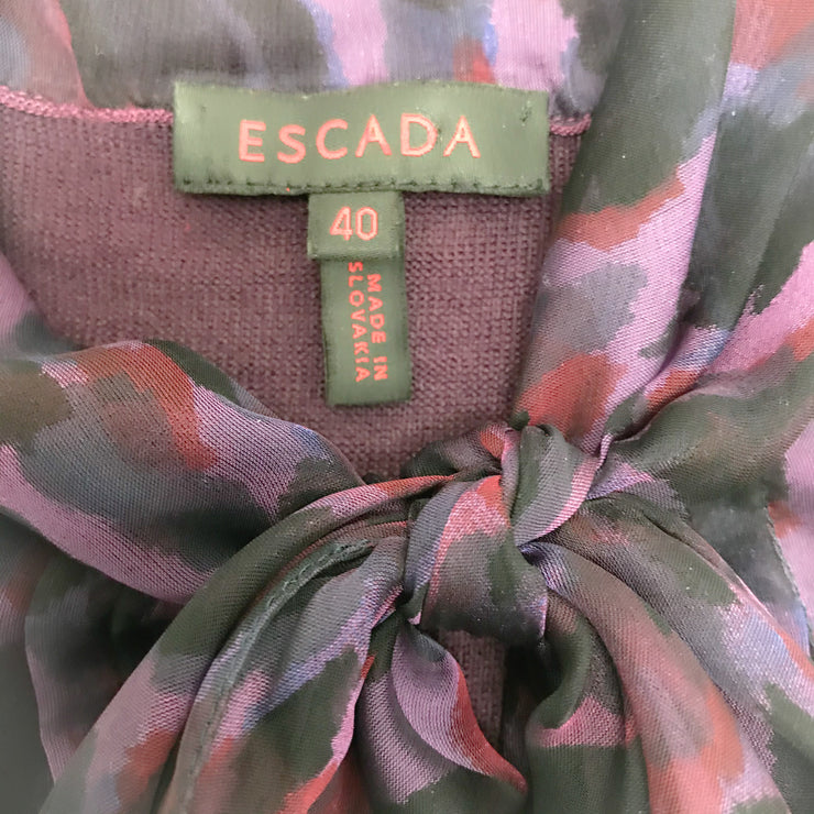 Escada Wool Purple Sweater