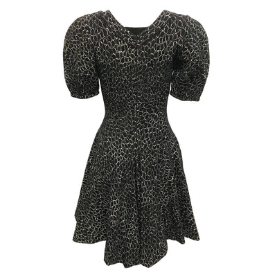 ALAÏA Black/Ivory Textured Dress