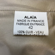 Alaia Brown & Ivory Spotted Double Breasted Pony Hair Coat