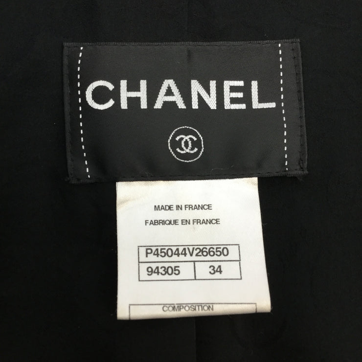 Chanel Black Sequined Cropped Evening Jacket