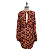 Magda Butrym Orange / Pink Floral Print Long Sleeve Dress