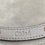 Chloe Taupe Suede & Calfskin Leather Medium Pixie Bag