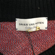 Dries Van Noten Navy Blue Plaid Wool Sweatshirt