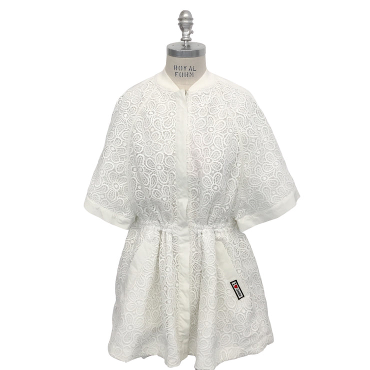 Giamba White Short Sleeve Lace Jacket