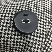 Christian Dior Black & White Houndstooth Wool Dress
