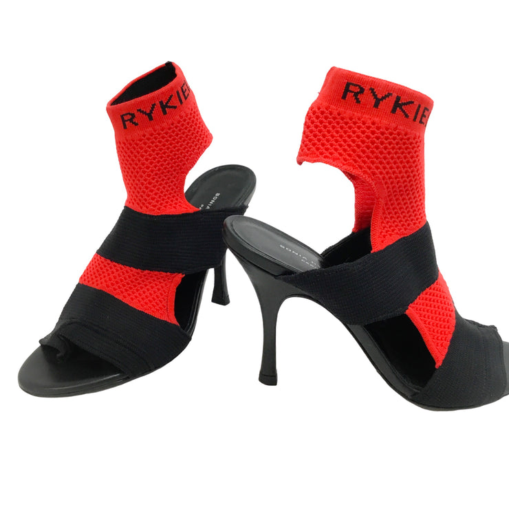 Sonia Rykiel Black / Red Cut Out Sock Pumps