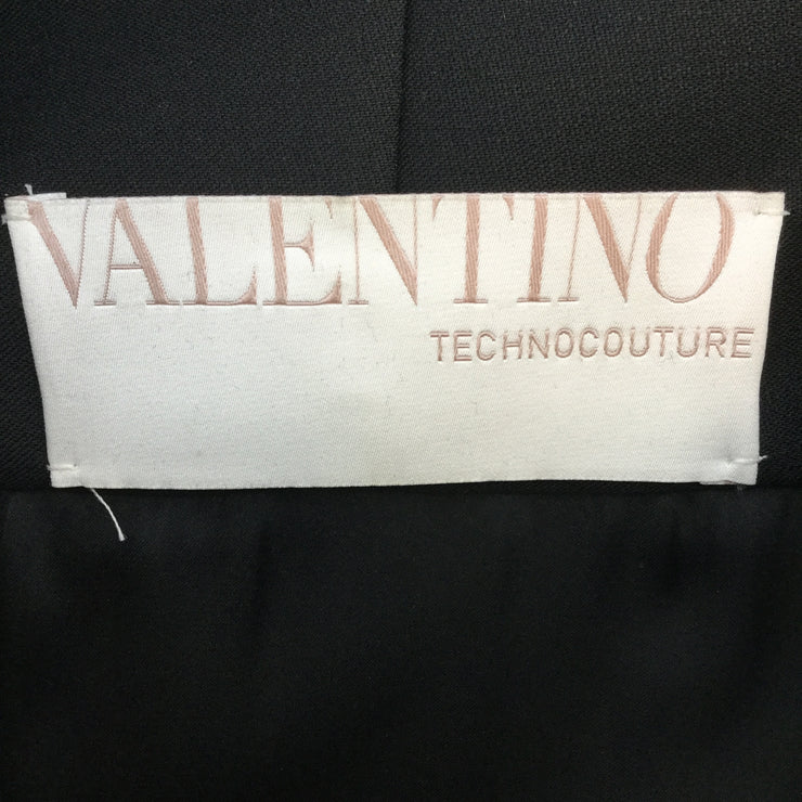Valentino Black Wool Blend & Persian Lamb Coat