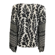 Andrew Gn Black / White Silk Printed Blouse