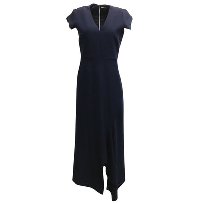 Roland Mouret Navy Blue Cap Sleeved Full-Length Gown