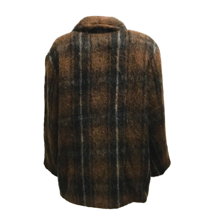 Sayaka Davis Fall 2020 Brown Wool, Alpaca & Mohair Blend Short Coat