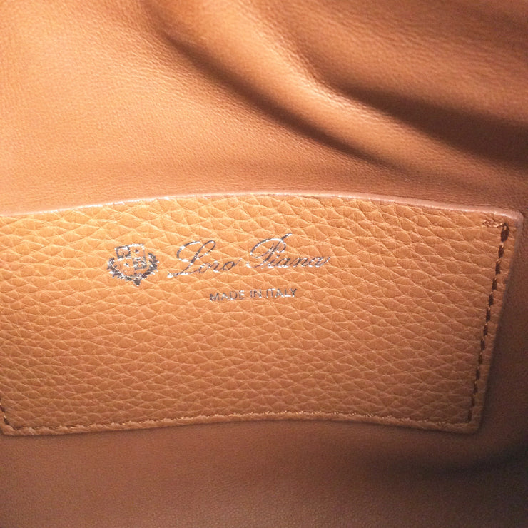 Loro Piana Milky Way Piccola Caramel Leather Cross Body Bag