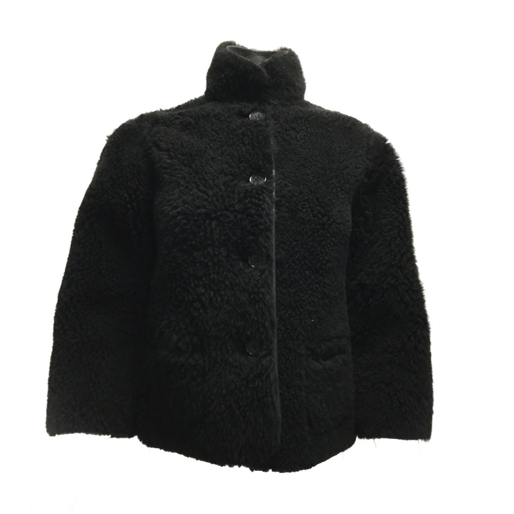 Céline Reversible Black Leather & Shearling Jacket