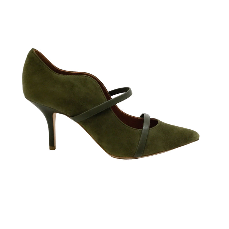 Malone Souliers Olive Suede Maureen Pumps