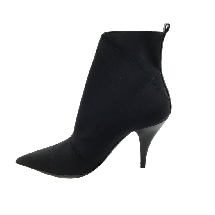 Casadei Black Stretch Pointy Boots/Booties