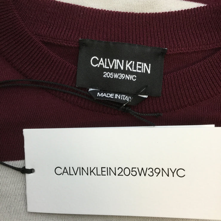 Calvin Klein 205W39NYC Wool Blend Striped Sweater
