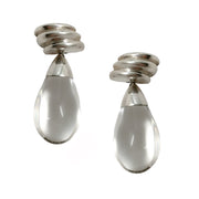 Bayanihan Clear / Sterling Silver Resin Drop Earrings