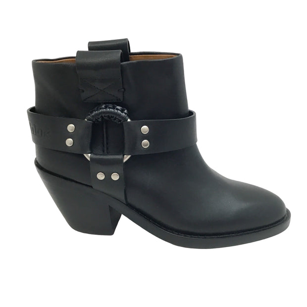 See by Chloé Black Western Ring Boots/Booties