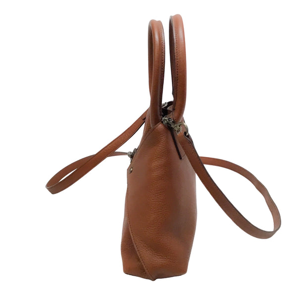 Akris Messenger XS Al Cervo Brown Lambskin Leather Cross Body Bag