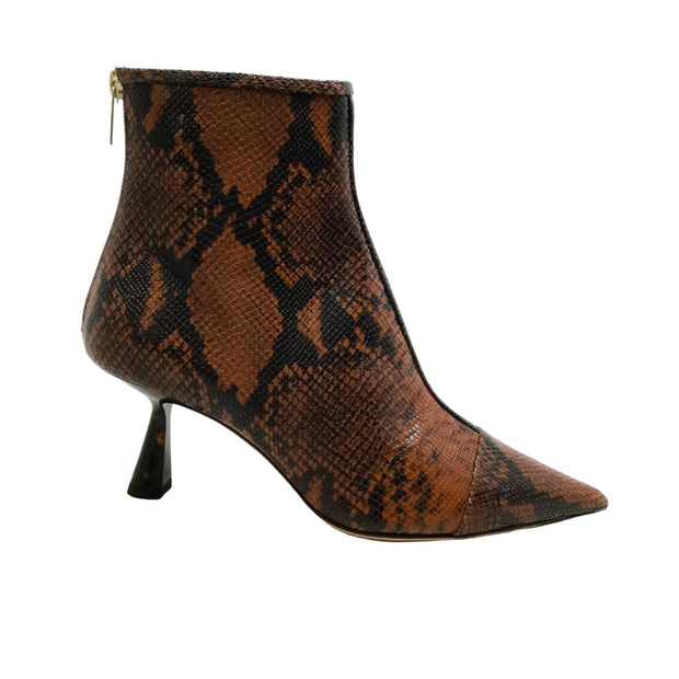 Jimmy Choo Brown Snake Kix 85 Boots
