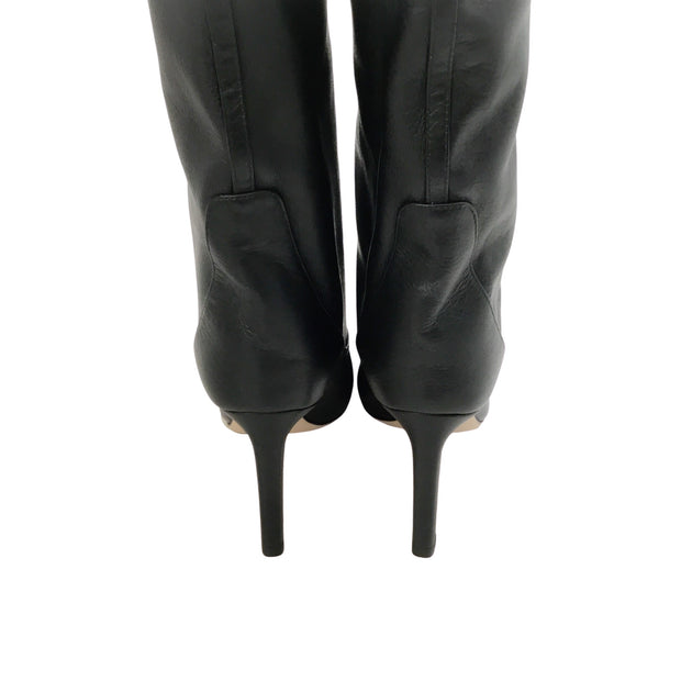 Jimmy Choo Black Mavis Tall Boots/Booties