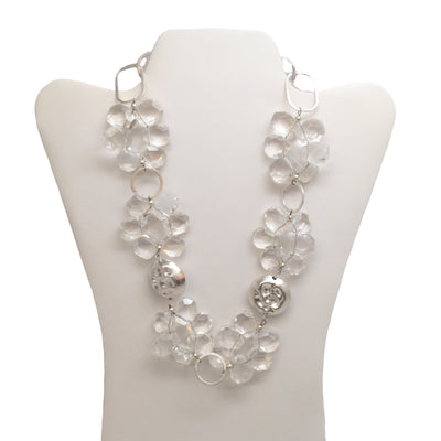 Deb Guyot Sterling With Faceted Stones Necklace
