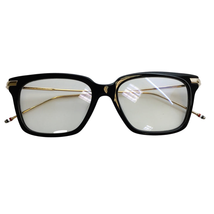 Thom Browne Black Plastic Frame & Gold-Tone Metal Sunglasses