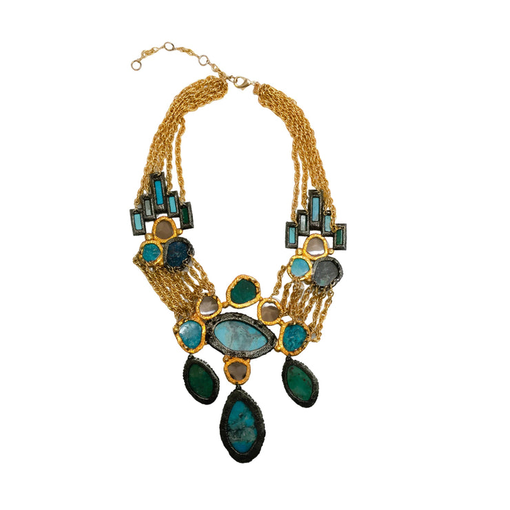 Alexis Bittar Cordova Antiqued Statement Necklace