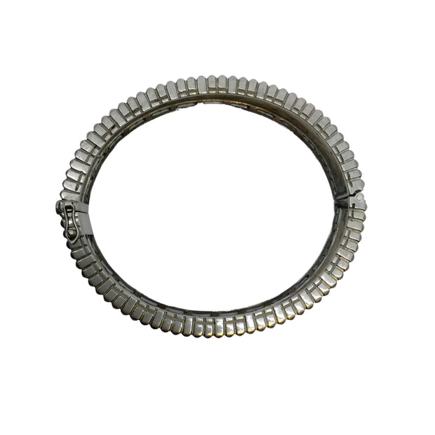 Nina Gilin Rhodium Plated Bracelet Studded with Diamonds