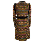 Valentino Multi Tribal With Trim Coat
