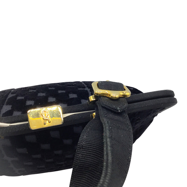 Roberta di Camerino Black Velvet Frame Handle Bag