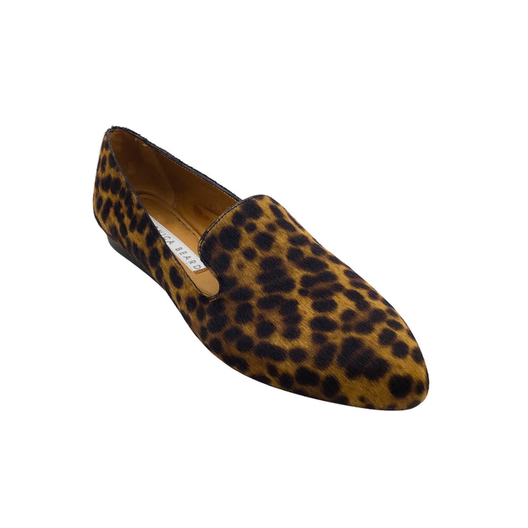 VERONICA BEARD GRIFFIN LEOPARD PRINT PONY HAIR LOAFERS