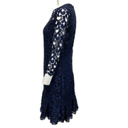 Anne Fontaine Navy Blue Lace 3/4 Sleeve Dress