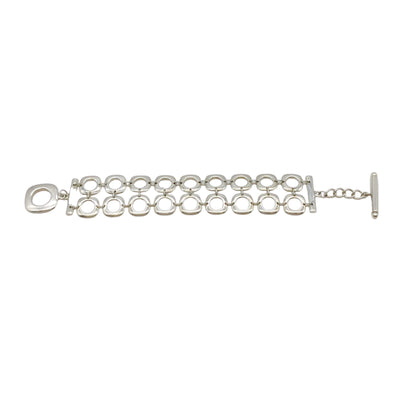 Tiffany & Co. Elsa Peretti Sterling Silver Square Cushion Toggle Bracelet