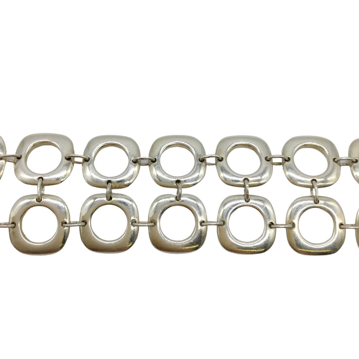 Tiffany & Co. Square Cushion Sterling Silver Toggle Bracelet