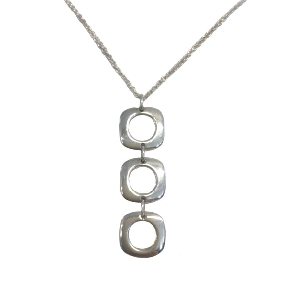 Tiffany & Co. Square Cushion Sterling Silver Necklace