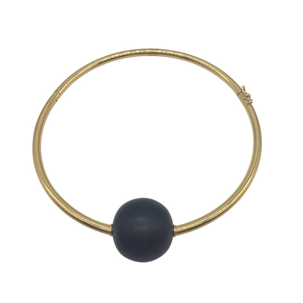 Celine Ball Pendant Gold-Plated Choker Necklace
