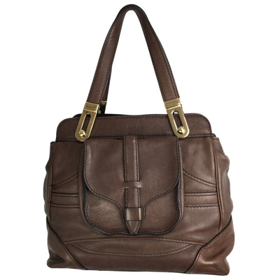 Chloé Chocolate Brown Leather Shoulder Bag