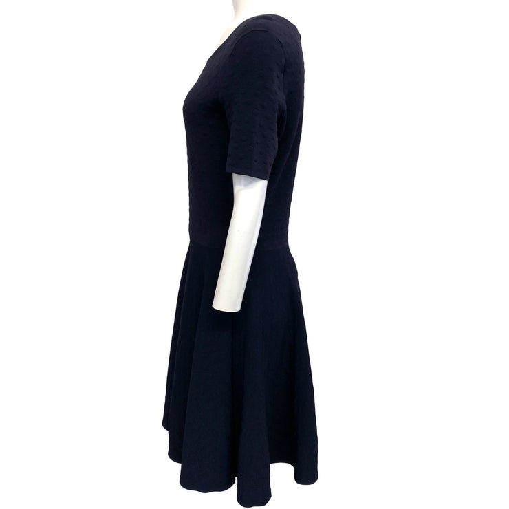 Akris Punto Navy Blue Sleeve Stretch Dress